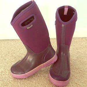 Purple Bogs size 5